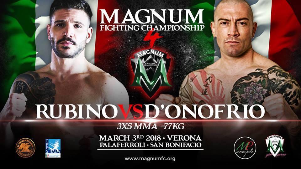BREAKING NEWS: Magnum FC 4, salta Rubino –D'Onofrio