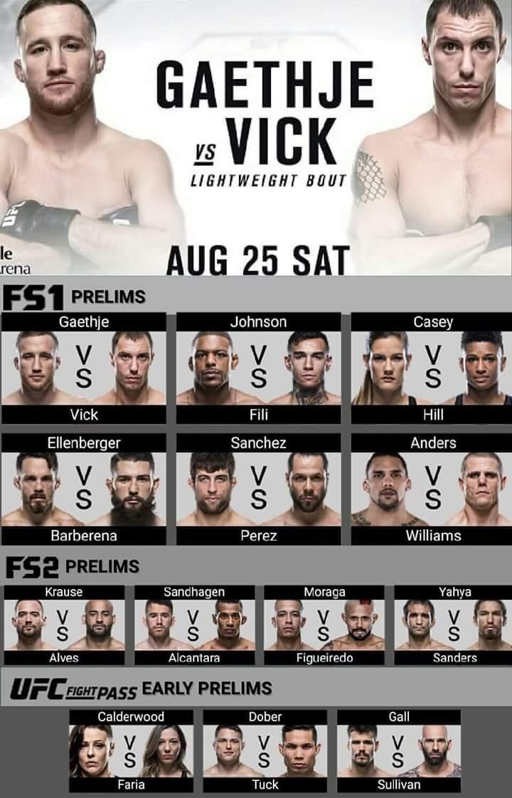 UFC Fight Night – Gaethje vsVick